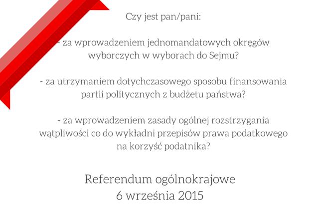 Referendum ogólnokrajowe6 września 2015(1)